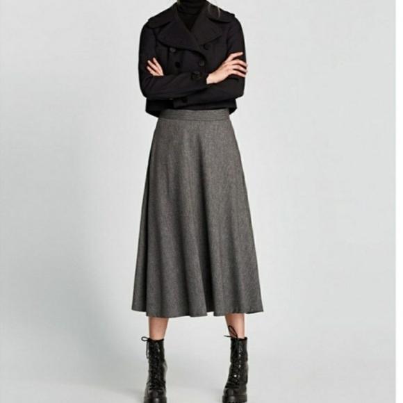 a087e8faa5 Zara Skirts   Nwt Midi Wool Blend Skirt   Poshmark
